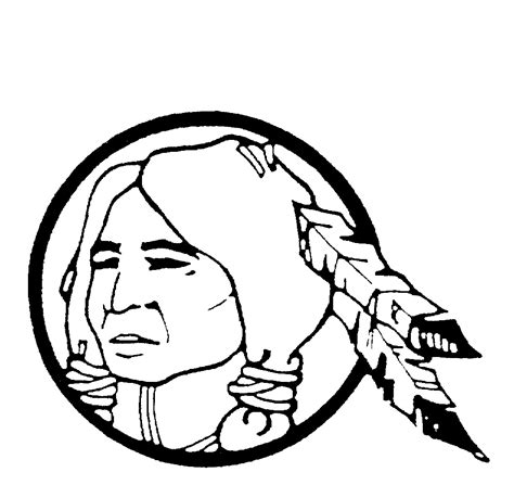 free coloring pages of cherokee indian head