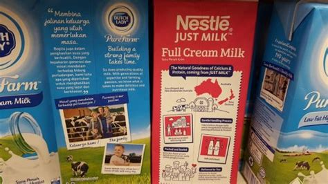 milk design malaysia nestle just milk freshens up uht milk packaging design