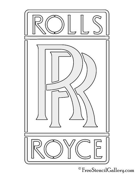 rolls royce logo rolls royce logo stencil free stencil gallery