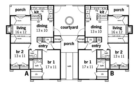 multi family house floor plans alberton stucco duplex design plan 020d 0023 house plans