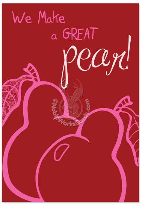 great valentines great pear fold s day card nobleworks