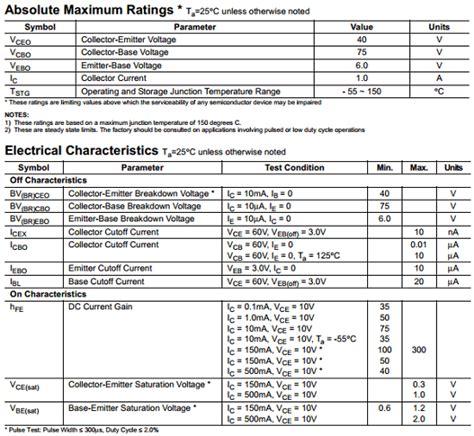 fairchild  datasheet   npn transistor