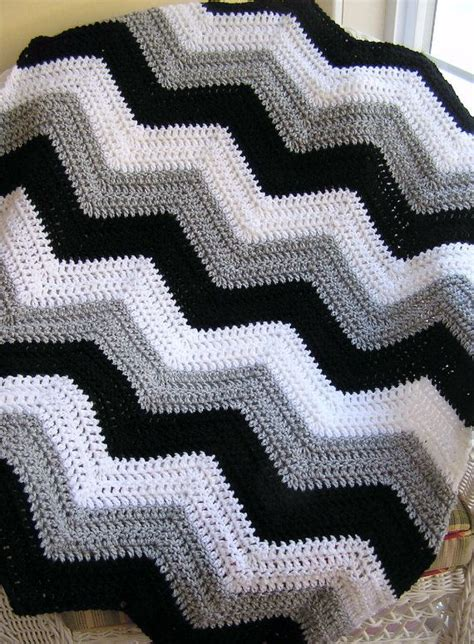 easy zig zag afghan pattern new chevron zig zag baby blanket afghan wrap crochet knit