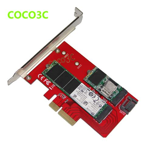M2 Pcie Pci E To Ngff M 2 M Key Kabel Konverter Molex 4x aliexpress buy 2 in 1 pci e 4x to b key ngff ssd wifi bluetooth 4 0 m 2 module sata 3