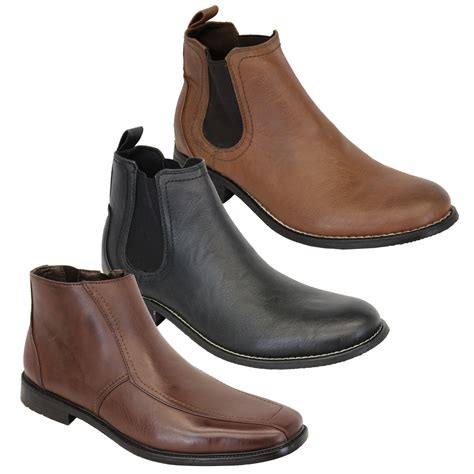 designer mens chelsea boots mens chelsea boots dealer high ankle leather look shoes
