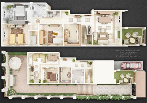 duplex home design plans 3d duplex 3d plan by m fawzi on deviantart