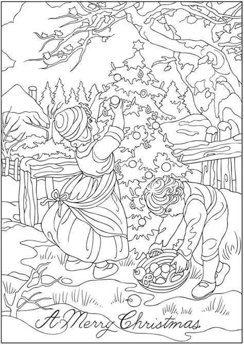 vintage christmas coloring page vintage 4