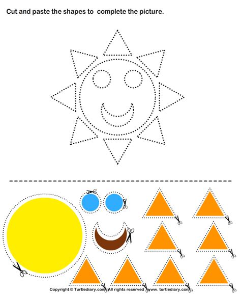 Cut And Paste Worksheets by Cut And Paste Crafts For Preschoolers