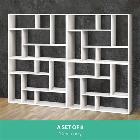 display l shape cube shelf diy sidetable cabinet storage