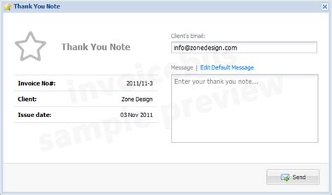 Invoice Thank You Letter feature preview 2 invoice functions