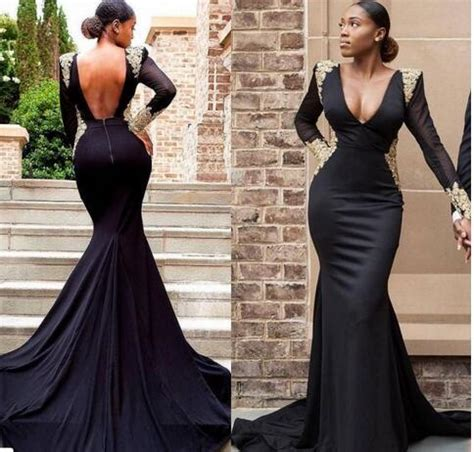 sexy cheap  size black girl prom dresses
