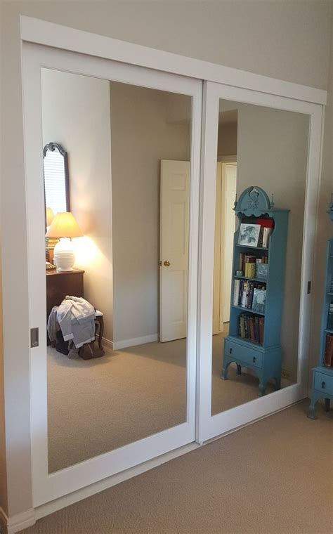 Sliding Glass Mirrored Closet Doors Mirrored Closet Doors Bathroom Pinterest Mirrored Closet Doors Closet Doors And Doors