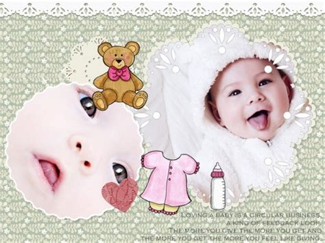 baby collage card add on templates free