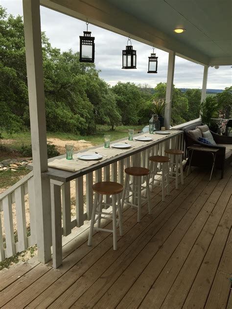 turn your railing into a quot eat up quot bar rhyne farm