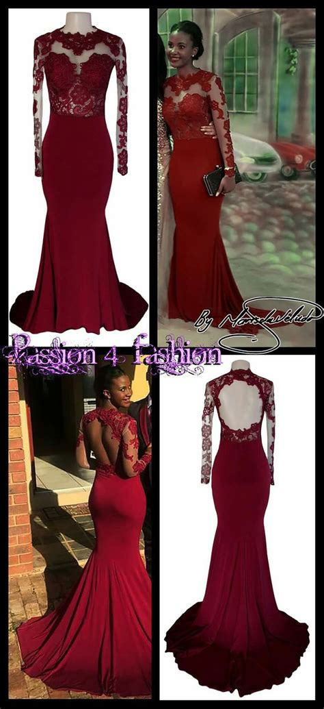 Deep red/maroon lace bodice soft mermaid dress, with a