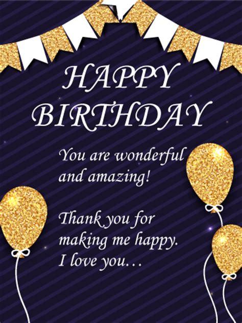 You Wonderful And Amazing Happy  Ee  Birthday Ee   Wishes Card