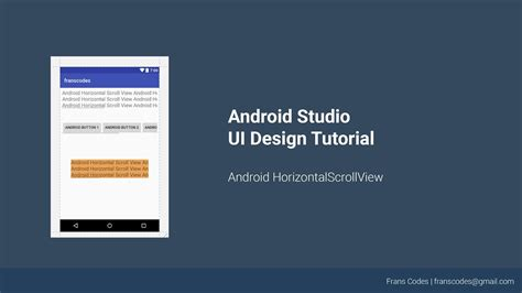 android tutorial youtube playlist android horizontalscrollview android studi ui design