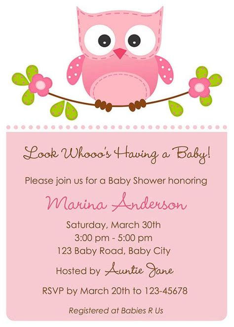 owl themed baby shower invitation template owl themed baby shower if i a