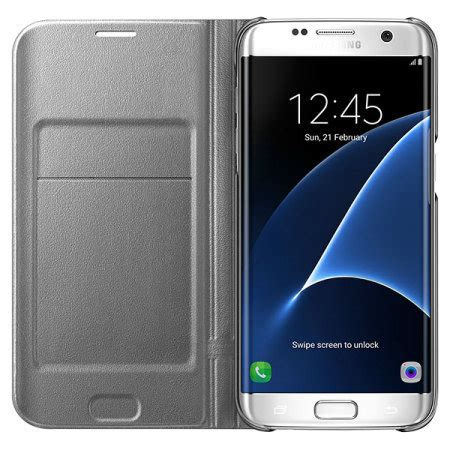 Samsung Galaxy S7 Official Led Flip Cover Casing Cover official samsung galaxy s7 edge led flip wallet cover silver