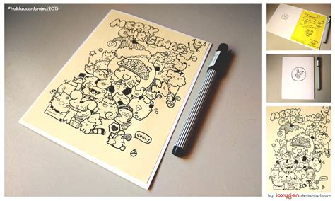 doodle cards doodle dat card holidaycardproject2015 by