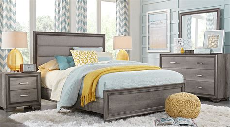 gray bedroom sets marlow gray 5 pc queen panel bedroom queen bedroom sets