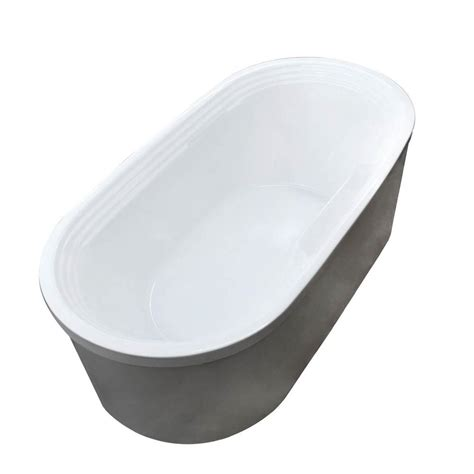 pearl bathtubs universal tubs pearl 5 6 ft acrylic center drain oval bathtub in white hd3467rs the home depot