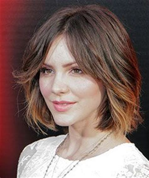 bob haircuts with center part bangs katharine mcphee short brown hair google search its