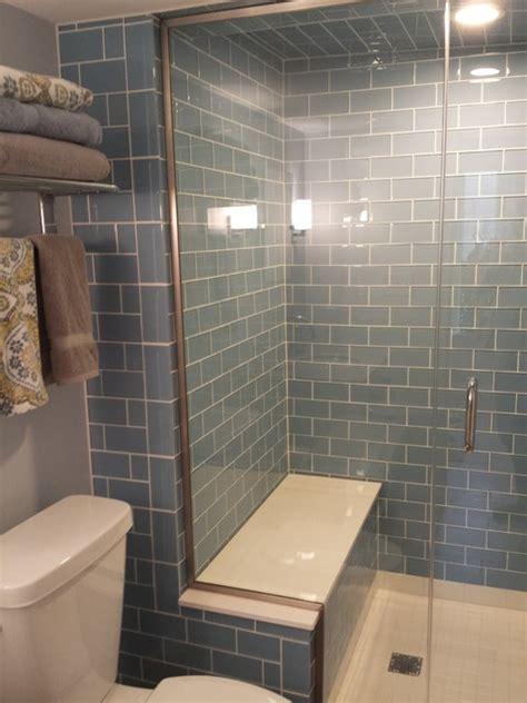 basement steam shower custom tile contemporary