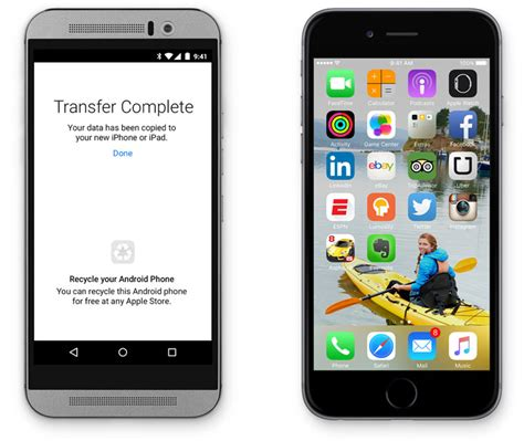 switching from android to apple apple s other android app will help you switch to ios recycle your android for free