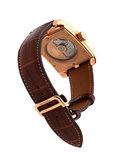 Hermes Hm022 Rosegold hermes gold cape cod limited edition wristwatch for sale at 1stdibs