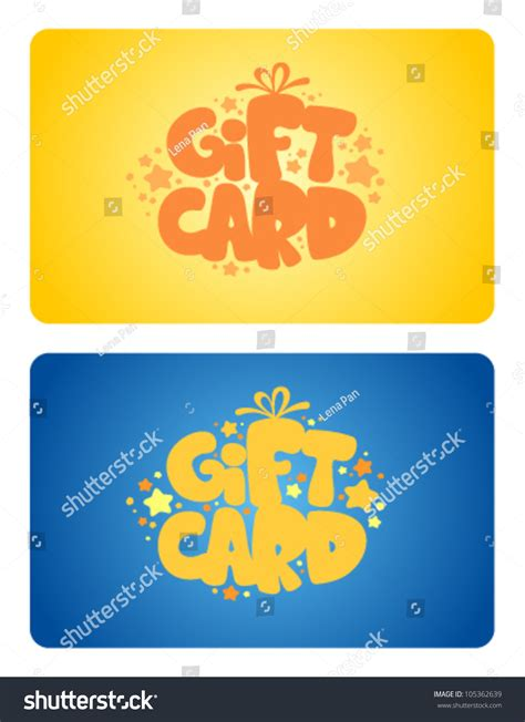 birthday gift card design template birthday gift cards design template stock vector