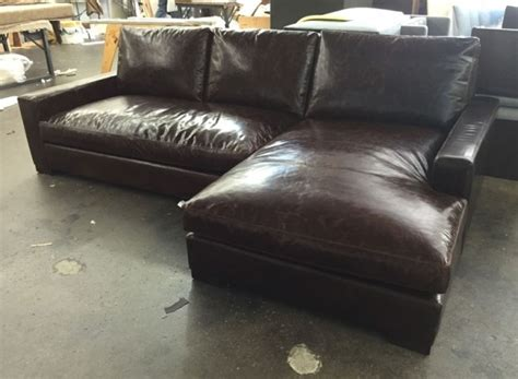 braxton leather sectional braxton leather sofa chaise sectional in brompton cocoa