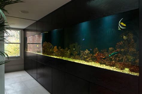 Kitchen Design London by Amazing Built In Aquariums In Interior Design