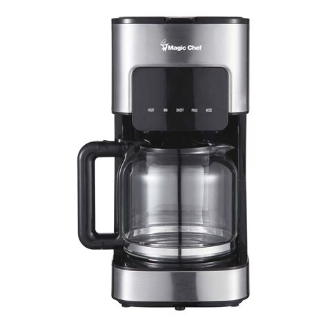 Coffee Maker Stainless 0027200006 12 cup coffee maker in stainless steel magic chef brands