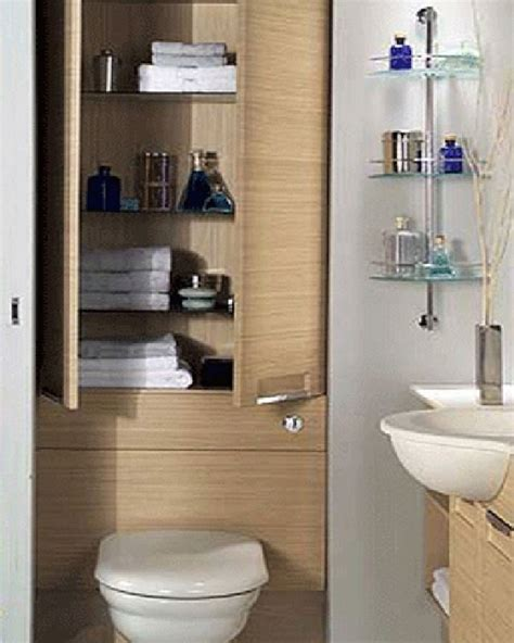 wood cabinets storage small bathroom toilet and
