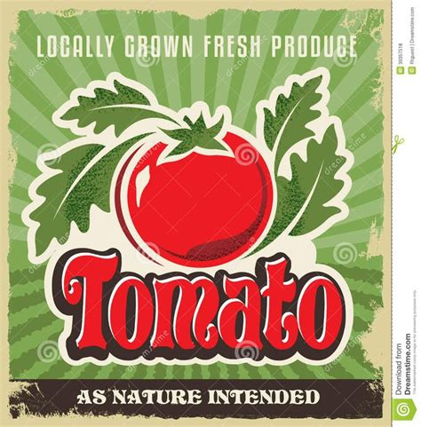 fashioned grocery advertising graphics retro tomato