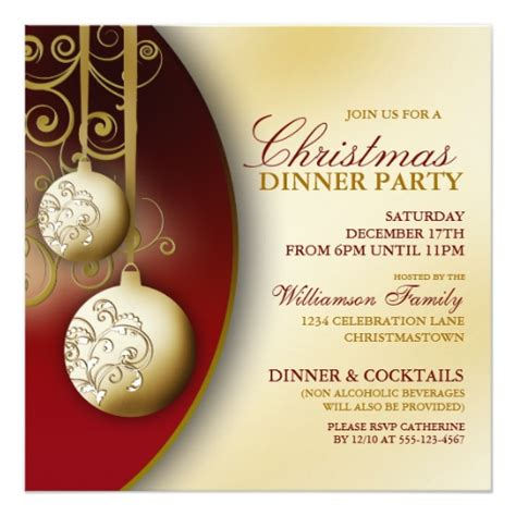 top 50 christmas dinner party invitations holiday