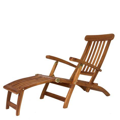 Teak Steamer Chair by 5 Position Steamer Chair