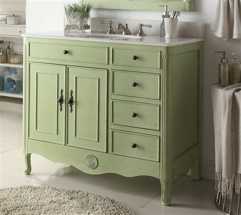 green bathroom furniture 38 inch bathroom vanity with 4 drawers on the right