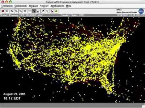 air traffic map usa a day in the of air traffic the united states