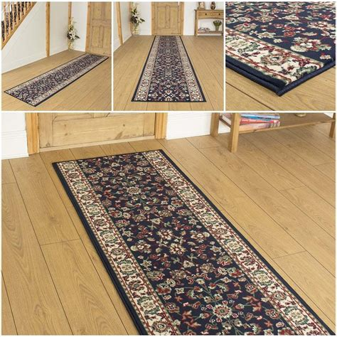 Foyer Runner Rug by D Blue Hallway Carpet Runner Rug Traditional