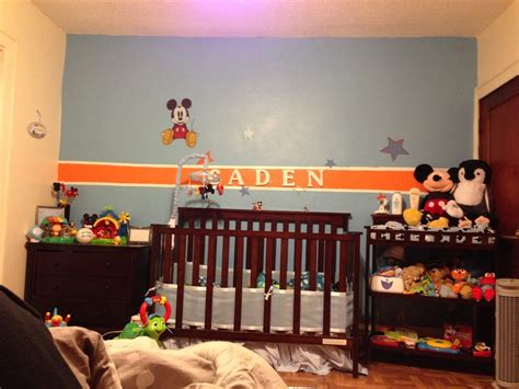 mickey mouse baby room