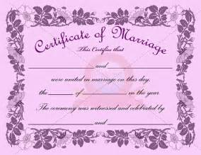 wedding certificate templates marriage certificate template certificate templates