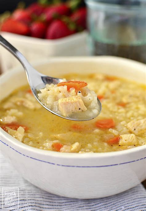 easy chicken and rice soup gluten free soup recipe