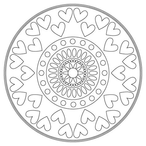 mandala coloring pages valentines free coloring pages of mandalas