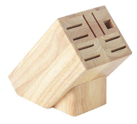 empty wooden knife block large empty knife block 9 slots kitchen knives