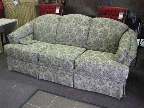 upholstered sleeper sofa   beautiful blue floral print