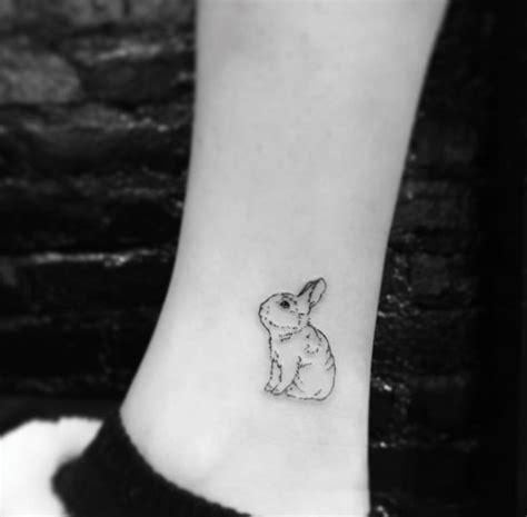 minimalist rabbit tattoo 28 miniature animal tattoos for women tattooblend