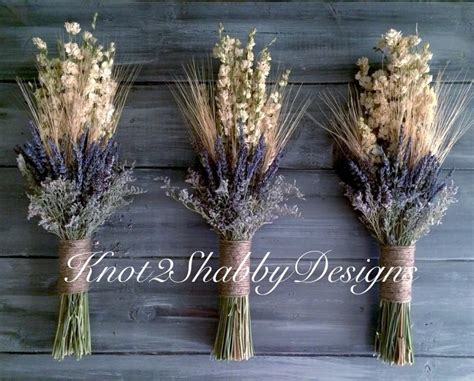 Decor Inspiration dried flowers dried glower bouquet wheat and lavender