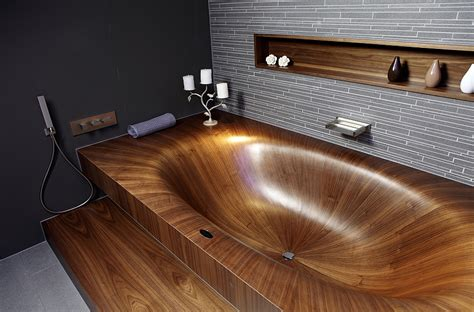 bathtub wood luxurious and dramatic wooden bathtubs make a bold visual